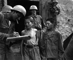 Historical images from the Korean War.