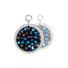 Nikki Lissoni Blue Rock Crystal Earring Coins - EAC2032SS http://www.oghamjewellery.com/collections/nikki-lissoni-jewellery