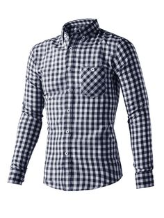 Lacontrie 2017 Spring Plaid Shirt Male Long-sleeved Shirt Blouse Plus Size Youth Office Business Casual 3 Color Shirt Men Casual Work Wear, Casual Fall Outfits, Social Dresses, Gear Best, Plus Size Blouses, Casual Shirts For Men, Formal Shirts, Business Fashion, Shirt Style