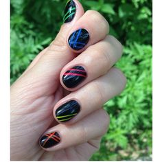 #nails #art #design #black #nailsart #nailsdesign #colors #summer