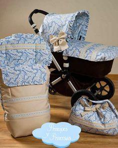 Principes y Princesas.: Colección de sacos y accesorios para el paseo de los bebés Principes y Princesas