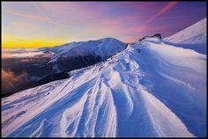 Snow Stories landscape, sunset, winter, snow