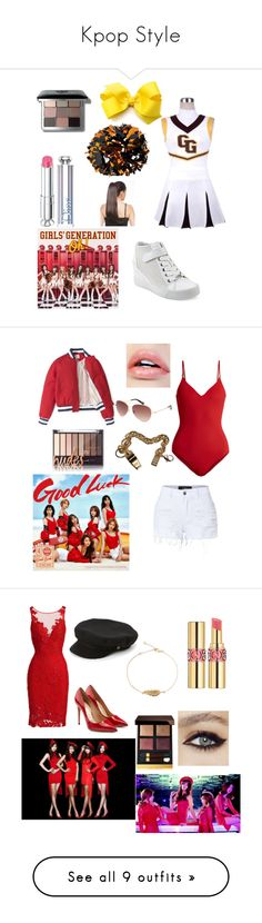 """""""Kpop Style"""" by otakugurl77 ❤ liked on Polyvore featuring GUESS, Handle, Bobbi Brown Cosmetics, Christian Dior, On the Island, LE3NO, Sophie Hulme, Spy Optic, ML Monique Lhuillier and Salvatore Ferragamo"""
