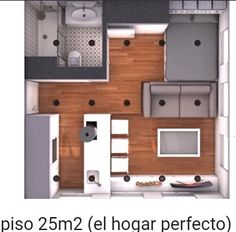 Studio Apartment Floor Plans, Studio Floor Plans, Bedroom Floor Plans, Apartment Plans, House Floor Plans, Tiny Studio Apartments, Small Apartment Design, Apartment Layout, Modern Small House Design