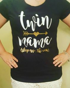 Twin Mom Shirt Mom Shirt Custom Shirts by DaughertyDesigns1