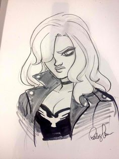 Black Canary by Babs Tarr Comic Book Artists, Comic Artist, Comic Books Art, Star Wars Drawings, My Drawings, Comic Character, Character Design, Batgirl Of Burnside, Babs Tarr