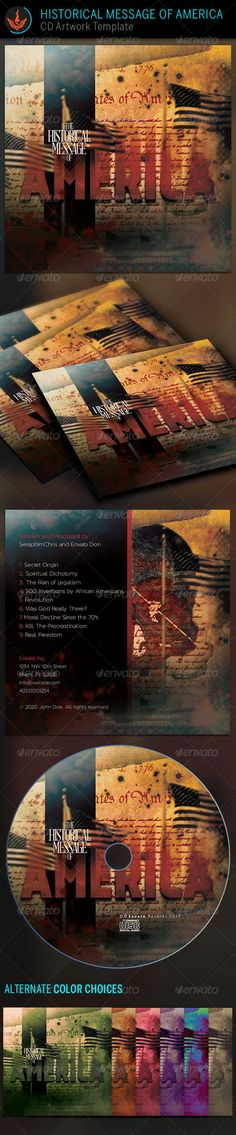 With this Historical Message of America CD Artwork Template you'll have the highest quality presentation. The composition is geared towards anyone who needs a mysterious, dark, historical, war, political mood to match their music or audio books. You'll find this file easy to use. It's great for DJs, Conferences, audio books, compiltion, gaming and lots more. This file is exclusive to graphicriver.net