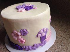 Purple/pink Toadstool smash cake