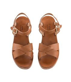 A.P.C. CLASSIC WEDGE SANDALS S/S 15