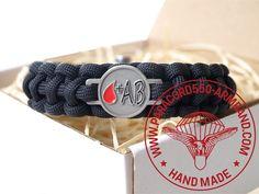 ARMBAND BLUTGRUPPE AB RH+ / BRACELET BLOOD TYPE AB RH+ Belt, Bracelets, Blood, Accessories, Wristlets, Belts, Bracelet, Arm Bracelets, Bangle