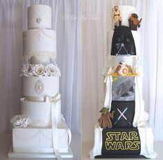 Special designed wedding cake Star Wars theme