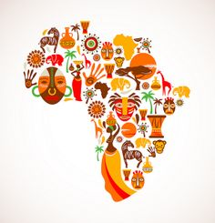 Map of Africa with vector icons by africandecendant, via Flickr