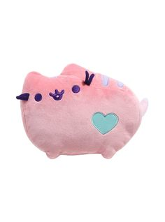 PUSHEEN PASTEL PINK HEART PLUSH   We dare you to find something cuter than this pastel pink Pusheen. You can't do it, can you? We didn't think so. This adorable plush features a heart detail on your favorite kitty.