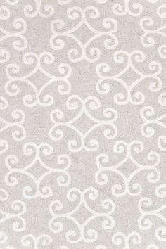 Dash - Scroll Platinum Wool Hooked Rug