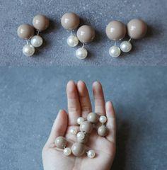 hello, whimsy.: TUTORIAL: DIY Mise en Dior STUD EARRINGS. Great idea for reversible earrings.