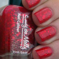 "Red jelly nail polish - ""A beautiful mistake"" indie custom glitter nail polish - Socialbliss Glitter Nail Polish, Shellac Nails, Nail Polishes, Red Glitter, Manicures, Cute Nails, Pretty Nails, Funky Nails, Nail Disorders"