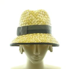 Yellow Straw Fedora Hat for Women  1950s Retro by TheMillineryShop, $220.00