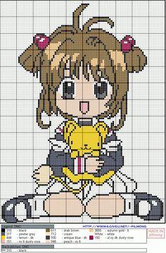 Anime cardcaptor sakura perler bead pattern