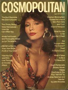 Cosmopolitan magazine, APRIL 1973 Model: Barbara Carrera Photographer: Francesco Scavullo