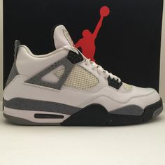 san francisco 5a6e4 94b51 Nike Retro Air Jordan 4 IV White Cement 2012 Size 13