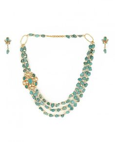 Turquoise and Pearl Necklace Set - India Trend by Parul Mittal - #LuxeSteals - #Necklace - Indian Designs - Designer of India - Jewellery Trends - Ethnic Designs of India - #Multicolor - Indian Ethnic Fashion - Celebrity Style - Jewelry of India - Traditional Jewels #Earrings #Bracelet