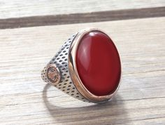 925 Silver Man Ring with Agate Size 10-11-12 Men's Handmade Gemstone Jewelry #IstanbulJewellery #Statement