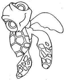 Disney Squirt Character Finding Nemo Coloring Pages Finding Nemo Coloring Pages, Turtle Coloring Pages, Coloring Book Pages, Coloring Pages For Kids, Free Coloring, Adult Coloring, Free Disney Coloring Pages, Desenho Tattoo, Felt Patterns