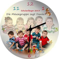 Kindergarten Abschied Uhr auf MDF - 29cm Durchmesser - Bild vergrößern Sports, Socialism, Social Networks, Graduation Regalia, Saying Goodbye, Entering School, Hs Sports, Sport