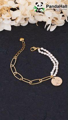 Handmade Wire Jewelry, Diy Crafts Jewelry, Bracelet Crafts, Beaded Jewelry, Beaded Bracelets, Bead Jewellery, Jewellery Project, Jewellery Making, Pearl Bracelet