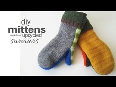 Making a pair of upcycled sweater mittens is a snap with this step by step tutorial. Upcycle your wool sweaters into something fabulous and cozy! Sweater Mittens, Old Sweater, Crochet Mittens, Mittens Pattern, Wool Sweaters, Sewing Projects For Beginners, Sewing Tutorials, Sewing Ideas, Diy Xmas Gifts