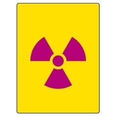 放射能標識 817-47 放射能マーク 大