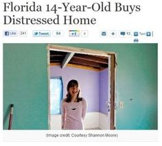 Florida 14-year-old buys investment property - Willow Tufano