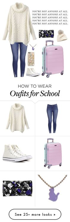 """""""School camp coming up"""" by clea69 on Polyvore featuring Converse, Casetify, Rockland Luggage, Disney and SIJJL"""