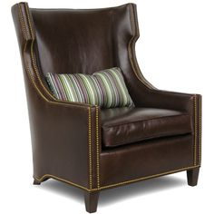 Charter 7237-C Montgomery/Library Chair- upholster in red leather???