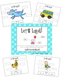 "Labeling practice for journals - could use just ""beginning sounds"" for kindergartners at the beginning of the year"
