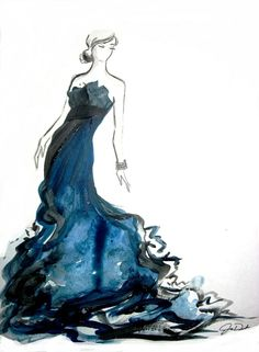 Fashion illustration has always intrigued me. This one in particular has a lovely feel.