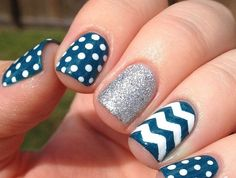 Zig Zag Tape for Nail Art, Chevron Stickers for Nails, Nail Vinyls - Medium Strips) : Beauty Manicure Colors, Diy Manicure, Diy Nails, Manicures, Great Nails, Perfect Nails, Cute Nails, French Manicure Designs, Cool Nail Designs