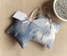 Tree of Life Lavender Bags, Ideal Teacher Gift or New Home Gift Excited to share this item from my # Lavender Crafts, Lavender Sachets, Diy Lavender Bags, Lavender Pillow, Small Sewing Projects, Sewing Crafts, Wedding Favors Cheap, Gift Wedding, Celebration Box