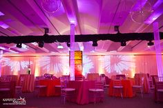 Light wallpaper and intelligent lighting at the Soiree D'Ete Gala. Lighting by Marz Media - Audio Visual Production & Event Lighting Design