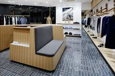 hiroshima has now been added to a.'s impressive japanese retail network. Glazed Brick, Booth Seating, Small Courtyards, Built In Seating, Sale Store, Store Windows, Retail Interior, Retail Space, Floor Finishes