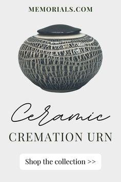 The Desierto Raku Cremation Urn is beautifully crafted by a master ceramic artist. This urn features a contrasting, white and black crackled glaze which is accented by the pattern on the body. Ceramic has been used for centuries to hold and preserve cremains because of its aesthetic beauty, and when properly cared for, it's durability. This cremation urn is made in the same way pottery has been crafted for centuries, ensuring a remembrance that is both beautiful and timeless. Memorial Urns, Funeral Memorial, Granite Stone, Aesthetic Beauty, Cremation Urns, Ceramic Artists, Preserve, Glaze, Marble