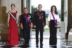 Mathilde of Belgium and Rania of Jordan are queens of elegance at glittering gala
