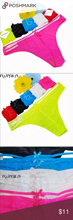 Adorable G String Thong Underwear All Brand new, boutique item! Sizes small medium or large available. Purchase will be a random color!! 💕 last pic is my pair I'm about to wear!😍 2 for 13$! Accessories Hosiery & Socks