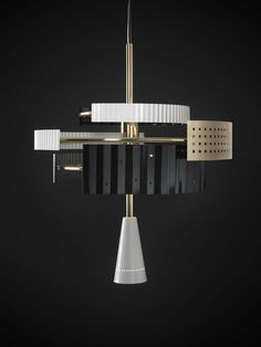 Wallie Chandelier, ceiling lamp by TATO   Dreamed and Made in Italy