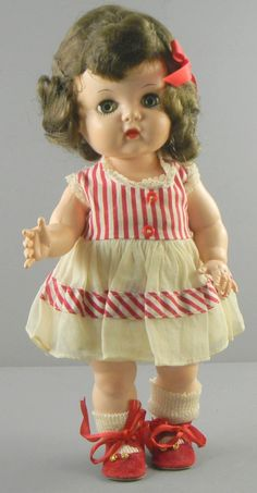 "This is a vintage, 12"" hard plastic doll, made by the Block Doll Corp. She is the Little Angel Doll, produced by Block in 1952, and only made for 3 years."
