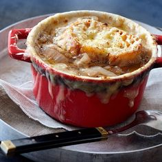 French onion soup recipe...I wanna get those little crocks...off to CostPlus today :)