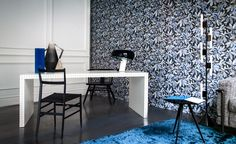 INSPIRATIONS: Your home office, a vintage décor with a floral touch. This space is right for working from home; let your creativity flow.   @spottimilano