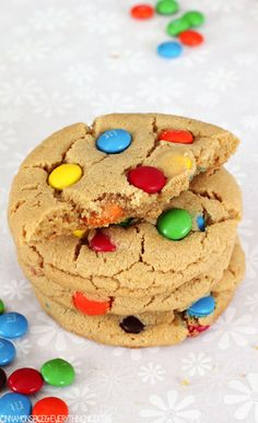 Peanut Butter M and M Cookies