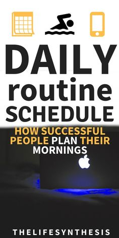 How to get productive and healthy with a daily routine Daily routines for men might not work for women. Daily routines for those who want to be organized aren't going to cut it for those who like Daily Routine Schedule, Daily Routines, Succesful People, Success Mindset, Career Success, Career Goals, Morning Habits, Morning Routines, Daily Printable