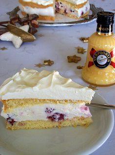 Mascarpone torte mit quark und likor